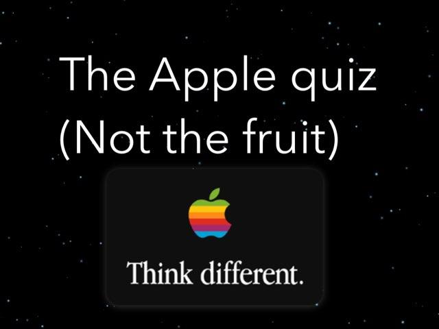 Apple Quiz by Kenneth McAlpine