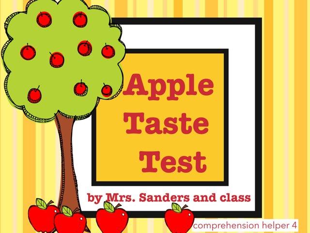 Apple Taste Test by Jennifer
