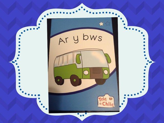 Ar Y Bws (glas) by Einir Owen