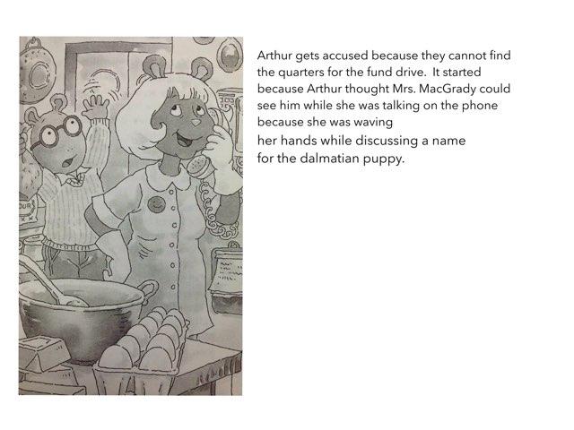 Arthur Accused Book Report By Fernando by Christine Snow