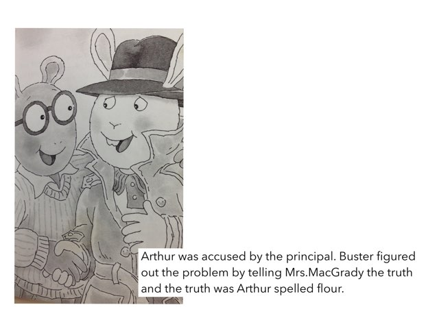 Arthur Accused book Report By Ava by Christine Snow