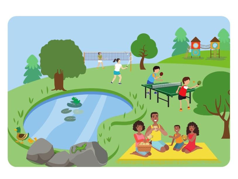 At the Park by Lauren Hamilton Saez