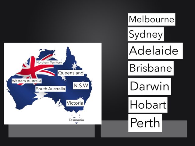 Australian States And Capital Cities by Meg Johnson
