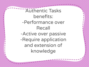 Authentic Assessment Benefits  by David Sparks