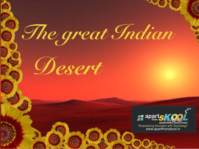 The Great Indian Desert by TinyTap creator
