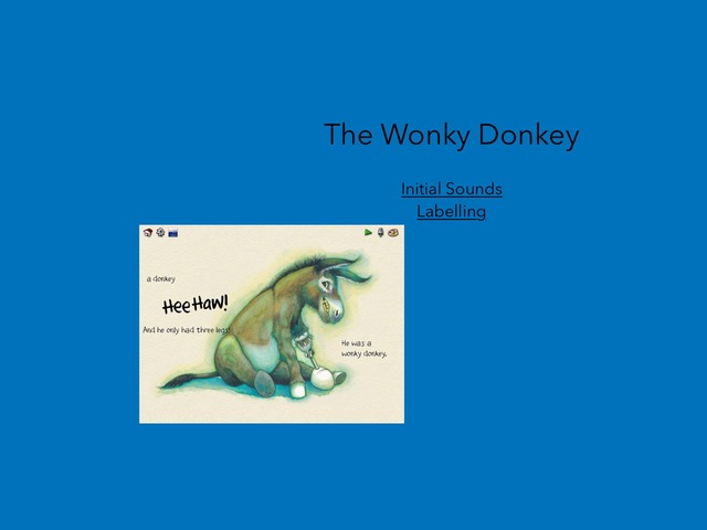 Wonky Donkey Initial Sounds  by Natashia McFarland