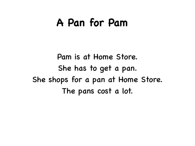 A Pan For Pam  by Rebecca Jarvis