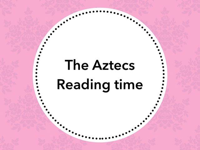 Aztecs Vocabulary Assessment by dalia daliasakr