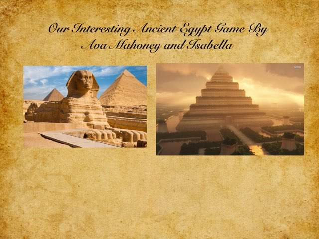 Egypt By Ava M And Isabella by St Cecilias