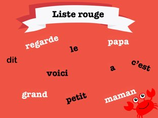 Mots frequents - Liste rouge by Sara Koene