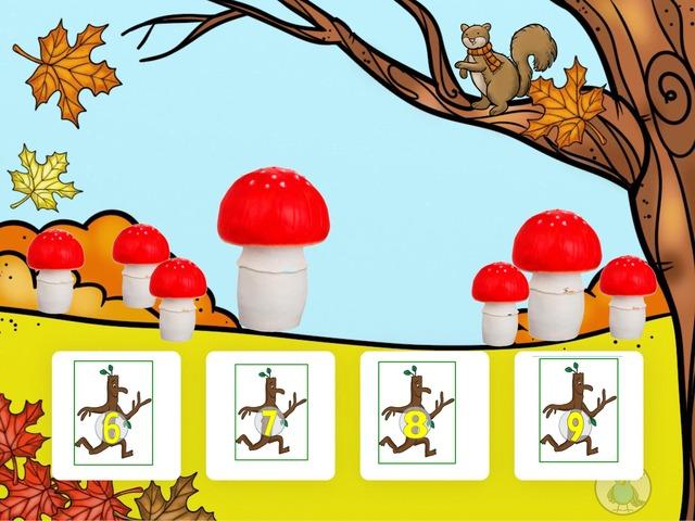 Tellen en getallen tot 12 Herfst  by Florine Ham