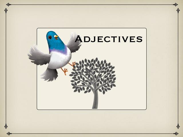 All About Adjectives  by Jessica Nowakowski