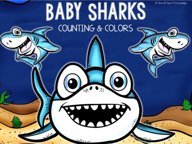 Number Quantity Match Baby Sharks by Yara Habanbou