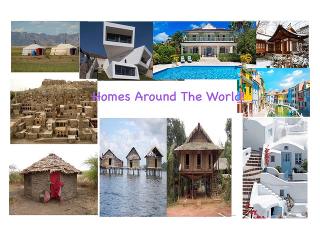 Homes Around The World by Theeparajah Jennifer