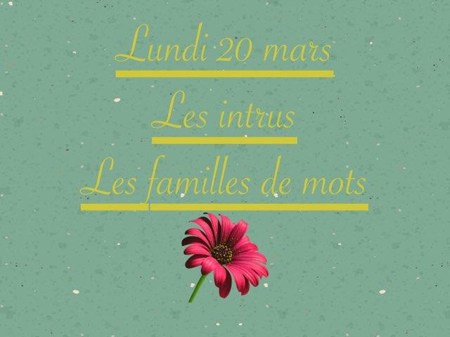 N - Lun20 - Intrus Et Familles by Caroline Gozdek