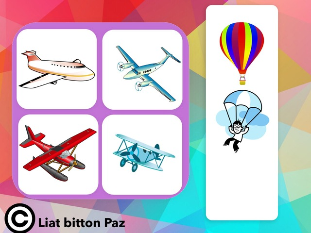 Match and Sort: Transportation 3 - In The Air - Planes  by Liat Bitton-paz