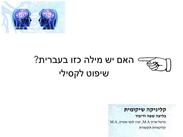 האם יש מילה כזו בעברית? by מיטל שרון