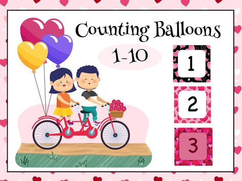 Counting Balloons 1-10 by Cici Lampe