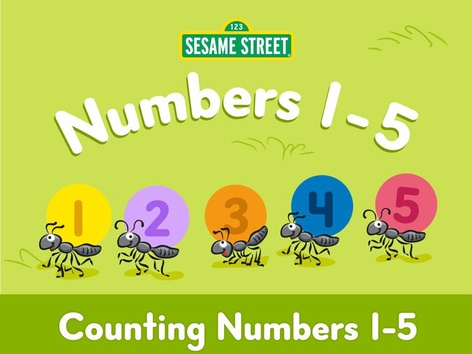 Counting Numbers 1-5 by Sesame Street by Tiny Tap