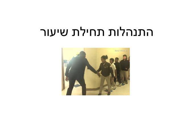 הנחיות לתחילת עבודה by Sarel Marom