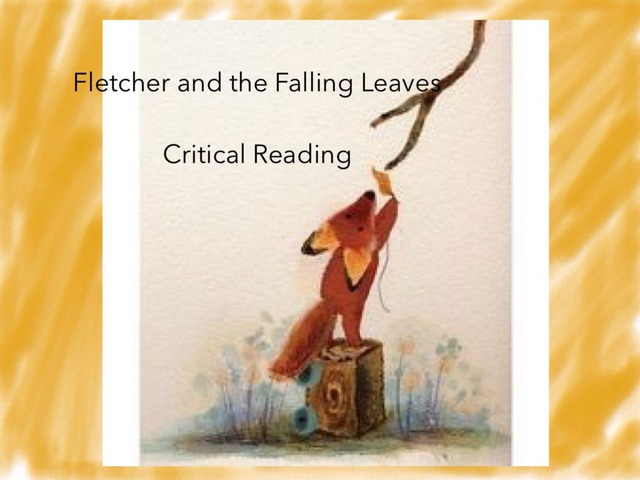 Questions Over Fletcher And The Falling Leaves by Jennifer Cunningham