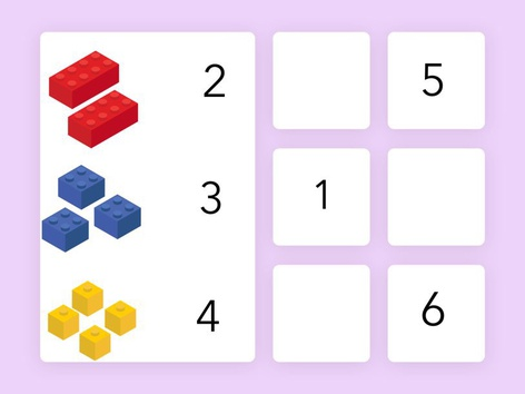 Match the Number to the Correct Blocks by Classroom Advantage