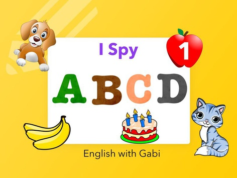 I-Spy 1: ABCD Letter Sounds by English with Gabi אנגלית עם גבי