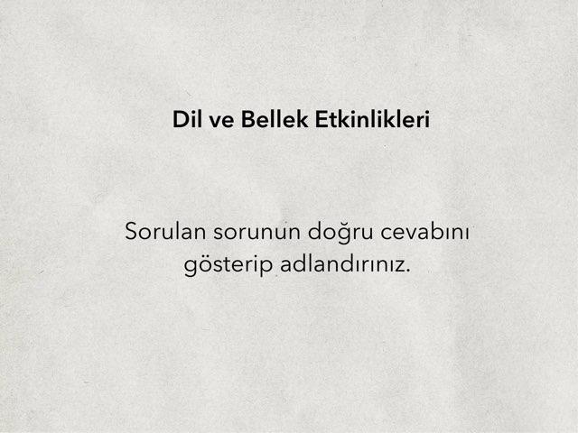 Afazi - Biliş Etkinliği by Suzan Tokaç