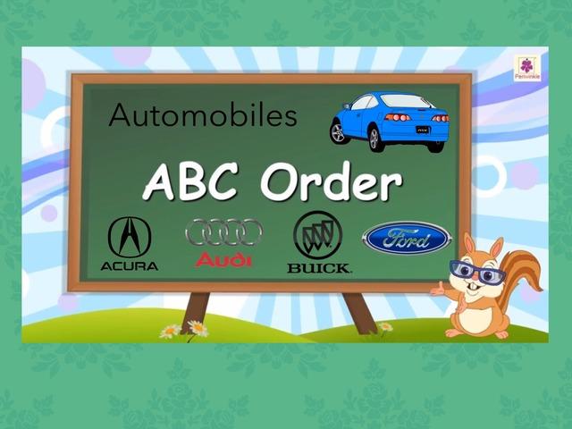 ABC Order: Automobiles by Carol Smith