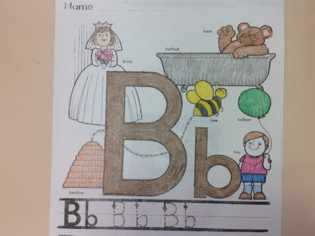 Letter B by Christine Snow