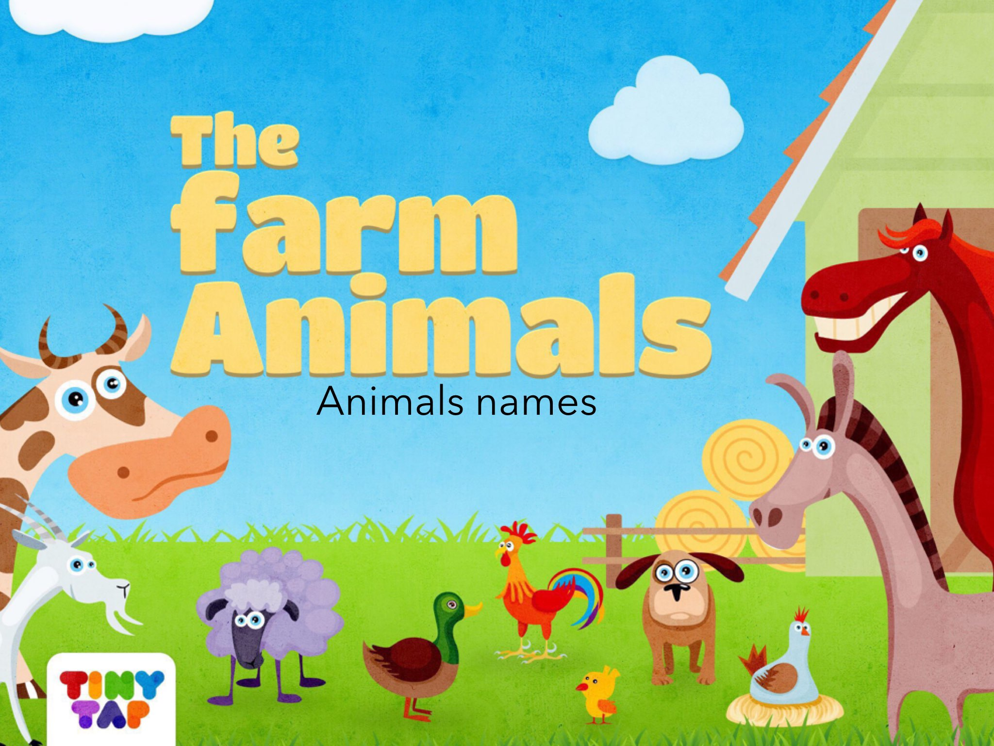 The Farm Animals Animals Names by Mihal Matana - Educational
