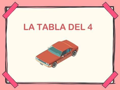 Tabla Del 4 by Jose Sanchez Ureña