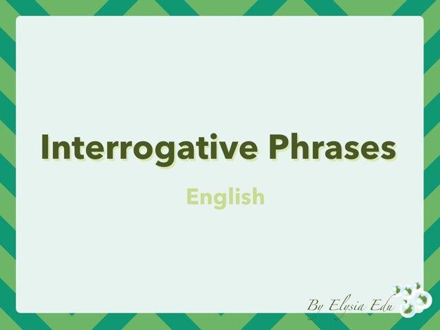 Interrogative Phrases by Fran Sarrión