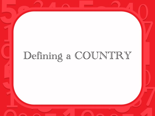 Defining A Country by Sheryll MS
