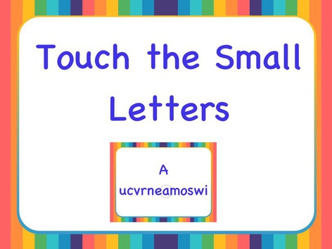 SHC Touch the Small Letter by Sara Anderson