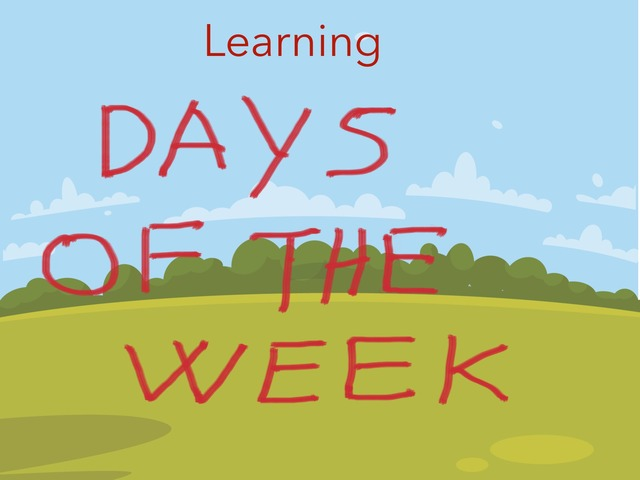 Learning  days of the week by Maria Grazia Matrone