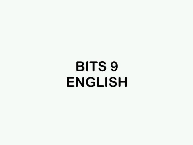 BITS 9 English by Carolina Vidal Galego