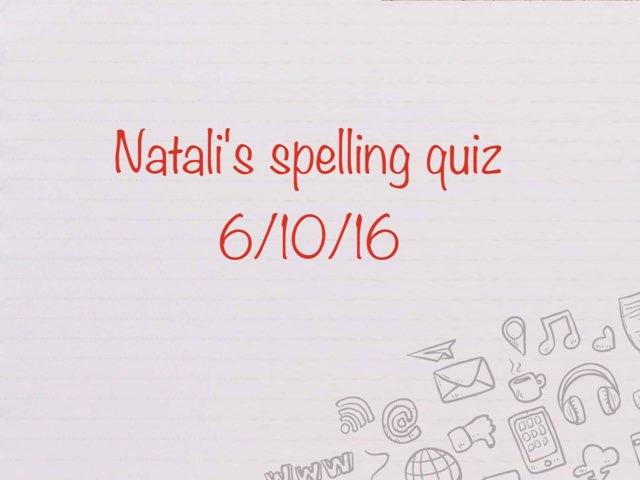 Natali Spelling Game by Y5 RA