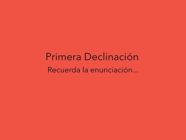 1 Declinación  by Rogelio Martínez del Oro