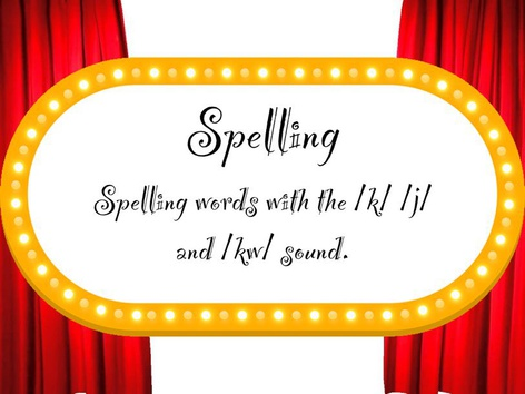 Spelling - /k/ /j/ And /kw/ Sounds by Emily Kane