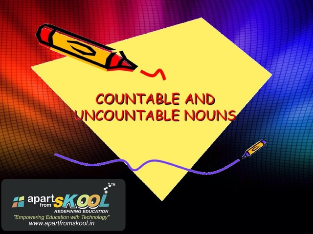 Countable And Uncountable Noun by TinyTap creator