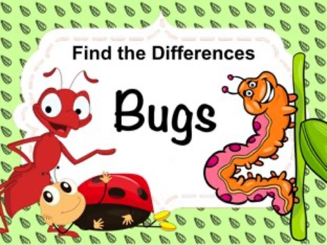 Find The Differences - Bugs by Ellen Weber