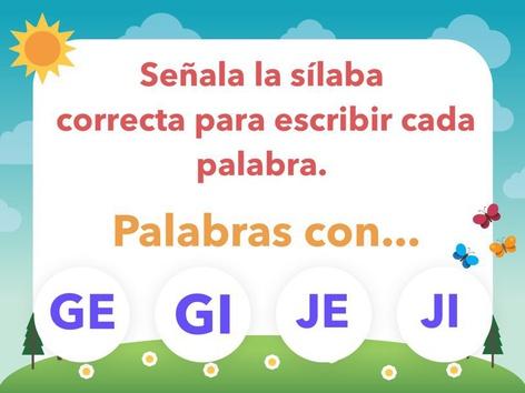 PALABRAS CON GE, GI, JE, JI. by Jose Sanchez Ureña