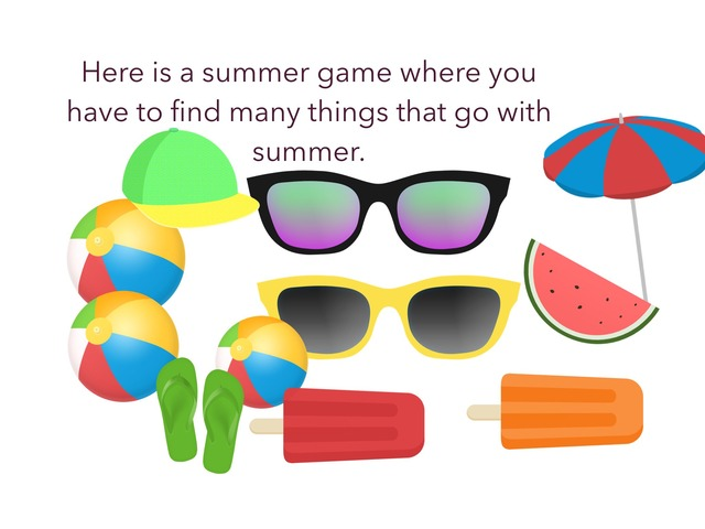 Summer Things To Find. by Sophia Chow
