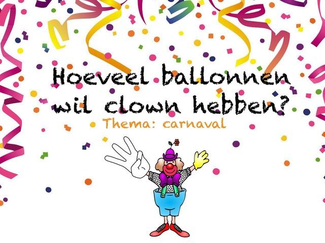 Hoeveel Ballonnen Wil Clown by Juf kim Giraf