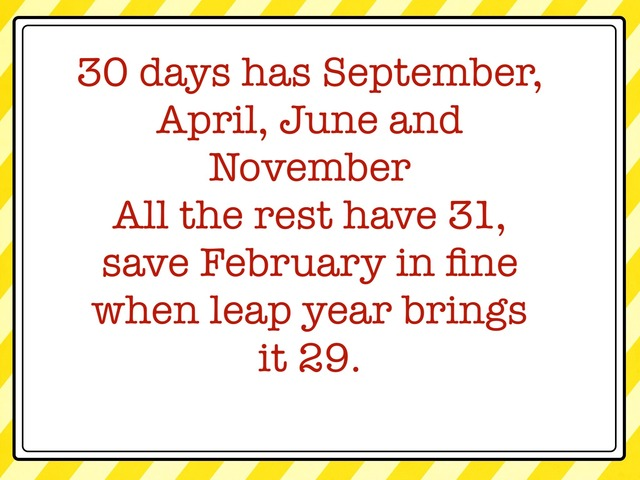 How Many Days In A Month by Carol Smith