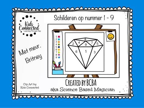 Schilderen Op Nummer 1 - 9 Diamant by Kids  Connected