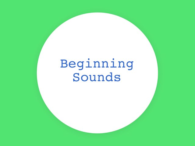 Beginning Sound Awareness by Anna Ray