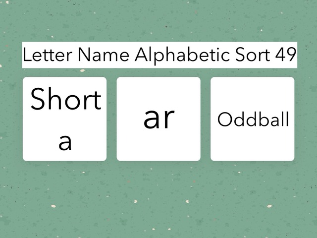 Letter Name Alphabetic Sort 49 by Erin Moody