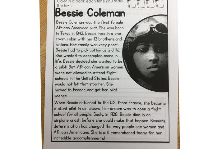 Bessie Coleman Text by ELIZABETH HARTUNG
